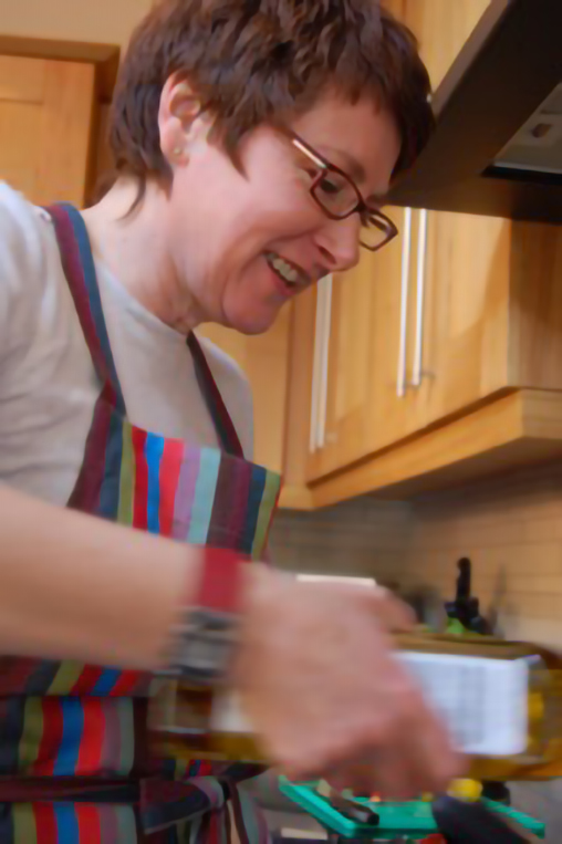 Ruth Beckley cooking